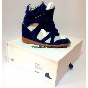 Bekket Wedge Sneakers Navy White