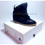 Bekket Wedge Sneakers Snake Black