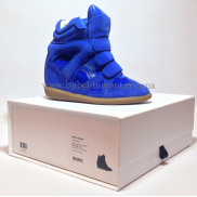 Bekket Wedge Sneakers in Bright Blue