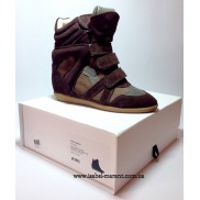 Bekket Wedge Sneakers In Anthracite