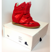 Bekket Wedge Sneakers In Red