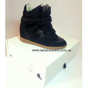 Bekket Wedge Sneakers In Black ( замша)