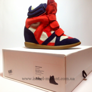 Bekket Wedge Sneakers Blue Red