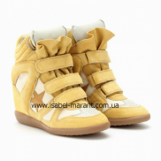 Bayley Wedge Sneakers In Yellow